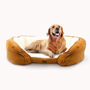 All For Paws Luxury Lounge Dog Bed Tan Large- Dubai Pet Shop
