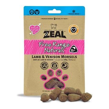 Zeal Dried Lamb & Venison Morsels For Cats 100g - The Happy Dolphin Pets
