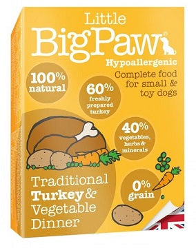 Little Big Paw Dog Turkey & Vegetable Dinner Wet Food - Dubai