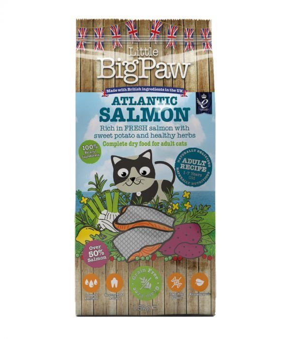 Little Big Paw Atlantic Salmon for Adult Cats 1.5kg - The Happy Dolphin Pets