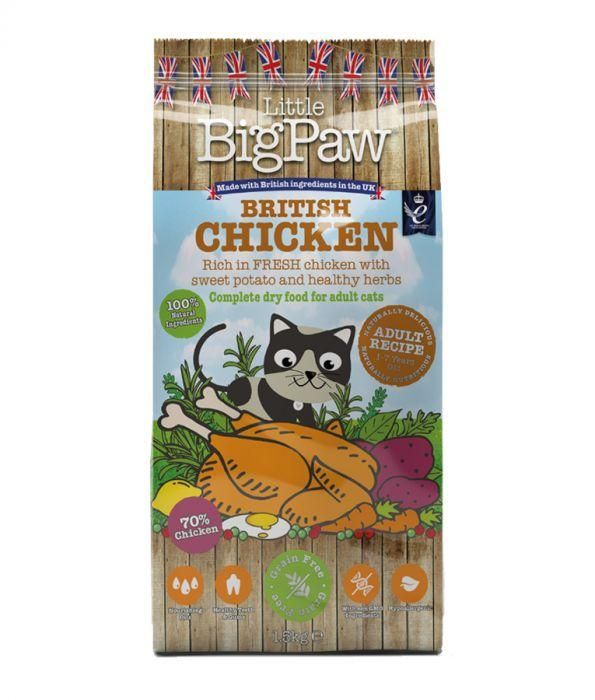 Little Big Paw British Chicken for Adult Cats 1.5kg - The Happy Dolphin Pets
