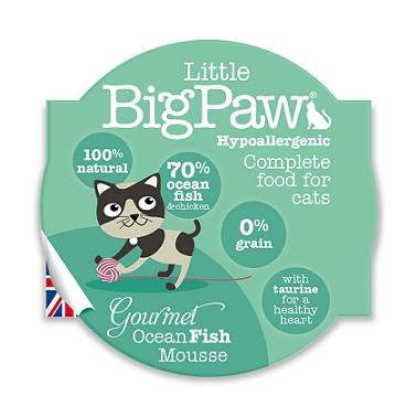 Little Big Paws Gourmet Ocean Fish Mousse 85g - The Happy Dolphin Pets
