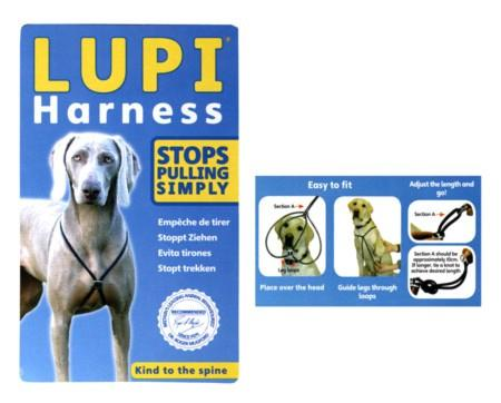 Lupi Harness Black - To Stop Pulling - The Happy Dolphin Pets
