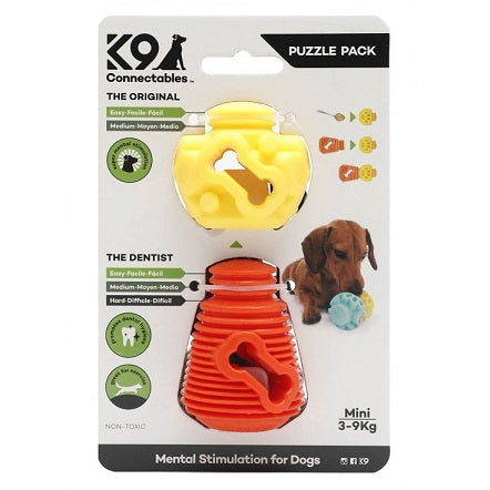 K9 Connectables Mini Puzzle Pack - Suitable for dogs between 3-9kg - The Happy Dolphin Pets