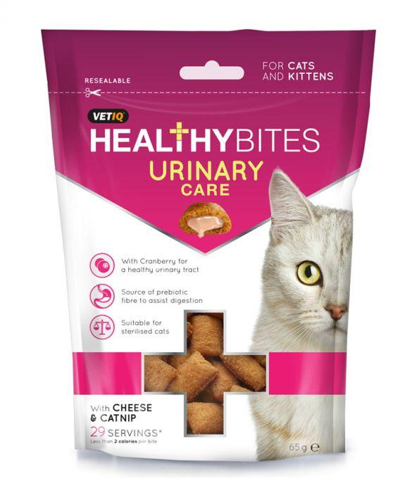 M&C Healthy Bites Urinary Care for Cats & Kittens 65g - The Happy Dolphin Pets