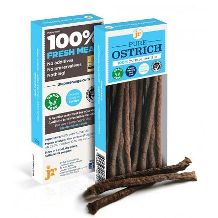 PURE OSTRICH STICKS 50g - The Happy Dolphin Pets