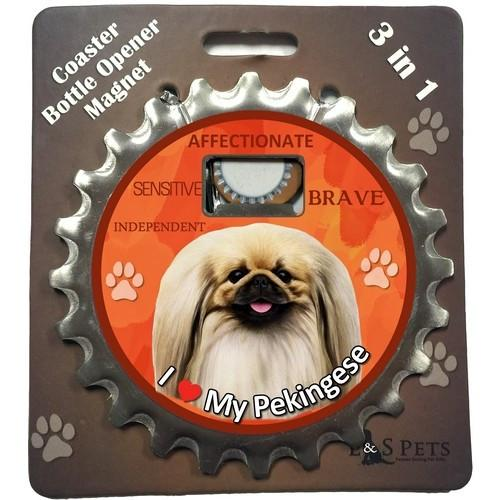 Pekingese 3 in 1 Coaster, Bottle Opener & Magnet - Free with dog orders over AED250 - The Happy Dolphin Pets