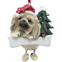 "Pekingese Ornament with ""Dangling Legs"" Hand Painted & Easily Personalized - The Happy Dolphin Pets"