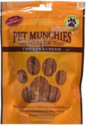 Pet Munchies Chicken and Cheese Dog Treats 100g - The Happy Dolphin Pets