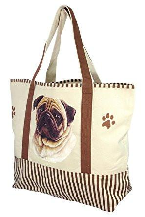 Pug Tote Bag - The Happy Dolphin Pets