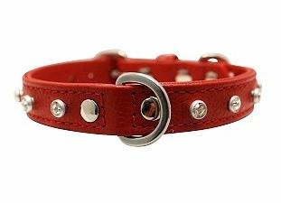 Red Leather Collars For Dogs in Dubai