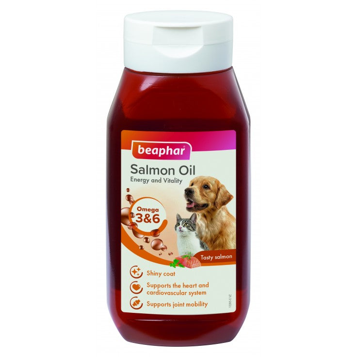 Beaphar Salmon Oil For Cats & Dogs 425ML - The Happy Dolphin Pets