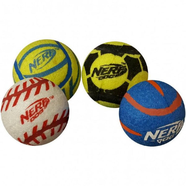 SOLID TUFF SPORTS BALLS MEDIUM (4 Balls) - The Happy Dolphin Pets