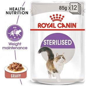 Royal Canin Sterilised In Gravy Wet Cat Food - The Happy Dolphin Pets