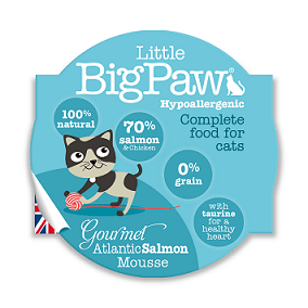 Little Big Paws Gourmet Tender Salmon Mousse 85g - The Happy Dolphin Pets