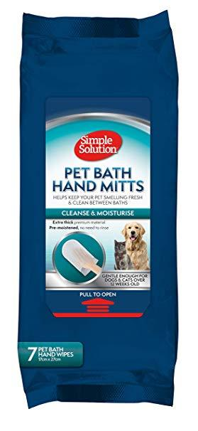 Simple Solution Pet Bath Hand Mitts in Dubai