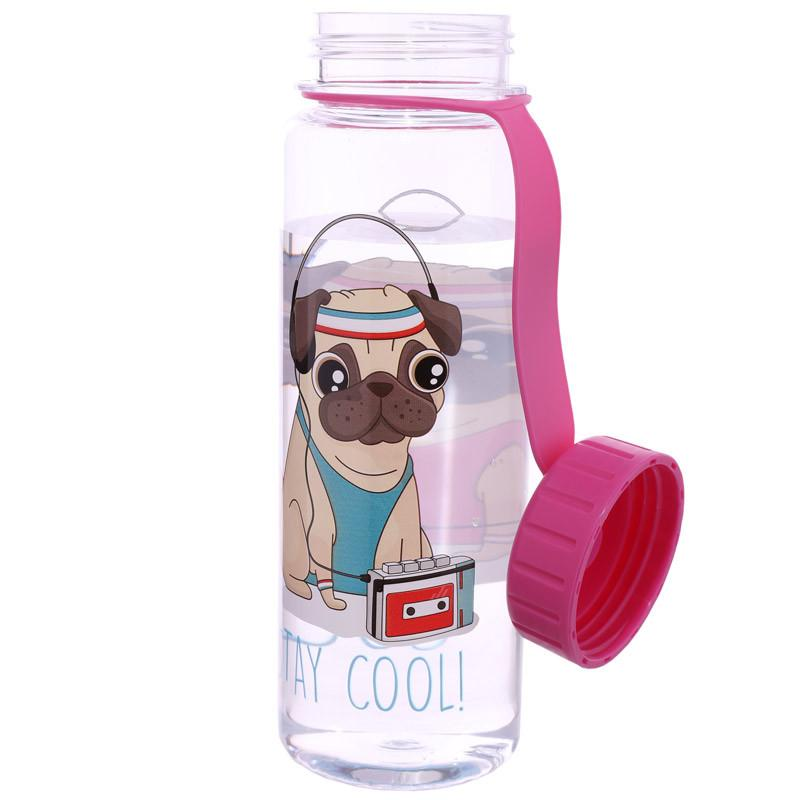 Water Bottle Pug Stay Cool Design - The Happy Dolphin Pets
