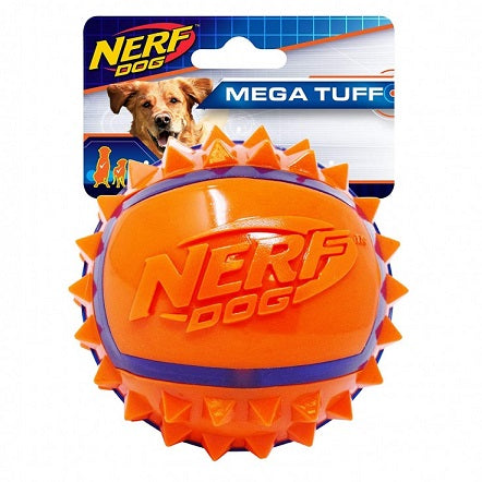 Nerf Two Tone TPR Spike Ball Mega Tuff Dog Toy - The Happy Dolphin Pets