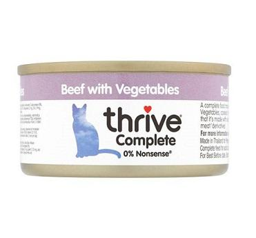 Thrive Beef With Vegetables 75g - The Happy Dolphin Pets
