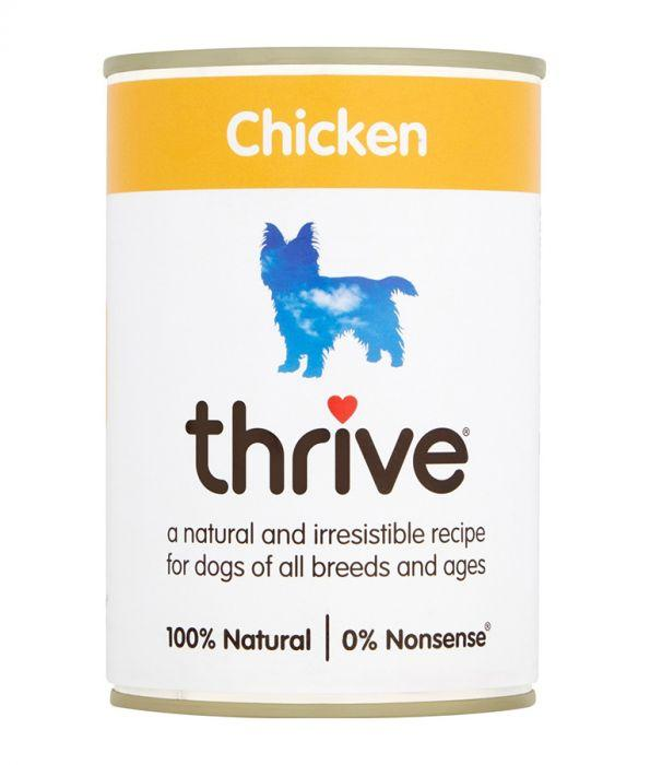 Thrive Complete Dog Chicken Wet Food 400g Can - The Happy Dolphin Pets