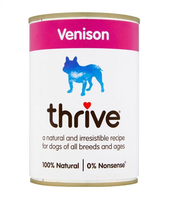 Thrive Complete Dog Venison Wet Food 400g Can - The Happy Dolphin Pets