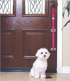 Hot Pink PoochieBells Dog Potty DoorBell - The Happy Dolphin Pets