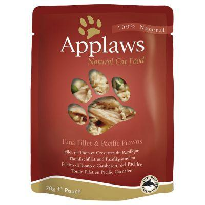 Applaws Tuna Fillet With Pacific Prawns 70gPouch - The Happy Dolphin Pets