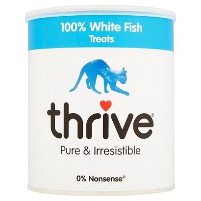 thrive Cat Treats Maxi Tube - White Fish - 120g - The Happy Dolphin Pets
