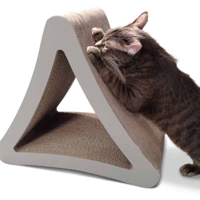 3Sided Vertical Cat Scratcher from PetFusion (Warm Grey Edge) - The Happy Dolphin Pets