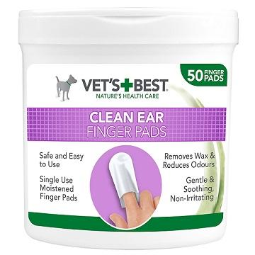 Vet's Best Clean Ear Finger Pads (50 pads) - The Happy Dolphin Pets