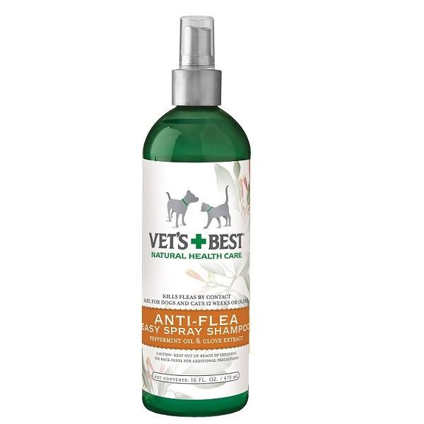 Vets+Best Natural Anti-Flea Easy Spray Shampoo (16 Oz) For Dogs Only - The Happy Dolphin Pets