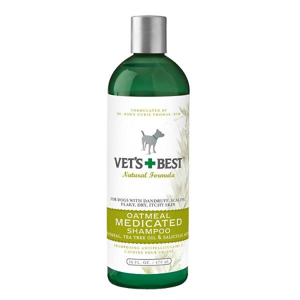 Vets+Best Oatmeal Medicated Shampoo (16oz) - The Happy Dolphin Pets