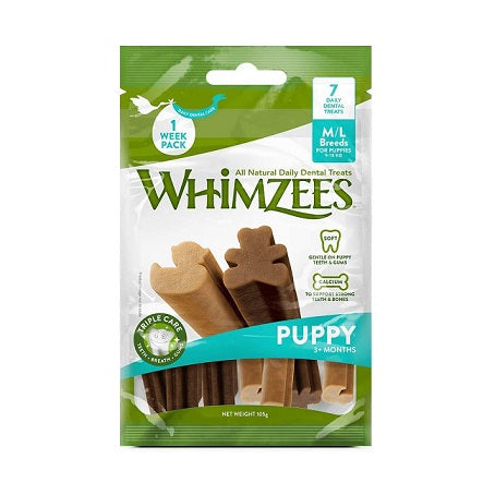 Whimzees Puppy Stix Medium Large Dental Treats - Dubai