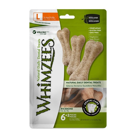 Whimzees Rice Bone Dental Dog Treat Large - Dubai