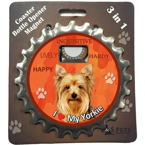 Yorkie 3 in 1 Coaster, Bottle, Opener & Magnet - Free with dog orders over AED250 - The Happy Dolphin Pets
