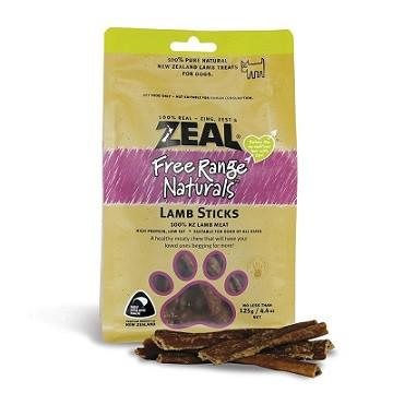 Zeal Lamb Sticks -125g - The Happy Dolphin Pets