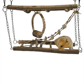 For Hamster & Small Animal - Activity Suspension Bridge - The Happy Dolphin Pets