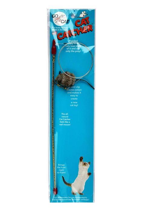 GoCat Cat Catcher Wand THE ORIGINAL NOW IMPROVED! - Made in USA - The Happy Dolphin Pets