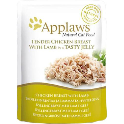 Applaws Chicken Breast With Lamb In Jelly 70gPouch - The Happy Dolphin Pets
