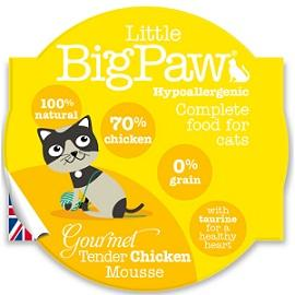 Little Big Paws Gourmet Tender Chicken Mousse 85g - The Happy Dolphin Pets