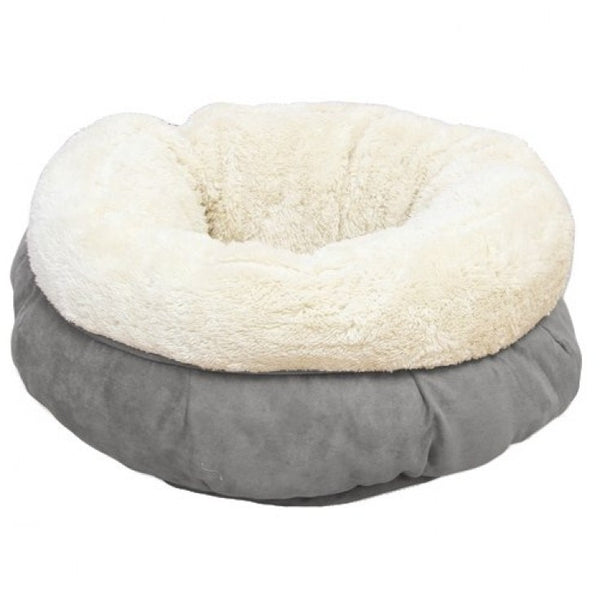 All For Paws Lambswool Donut Cat Bed Grey - Free Delivery in Dubai