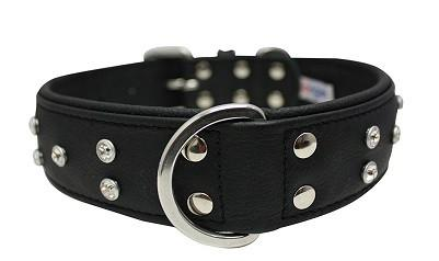 Genuine Leather Athens Black Multi-Row Rhinestones Collar - The Happy Dolphin Pets