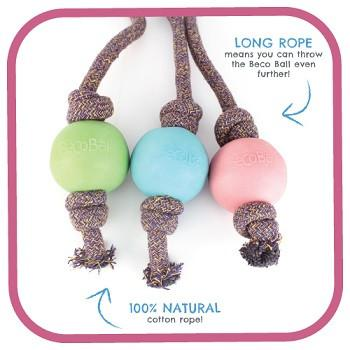 Beco Ball On Rope/ Multi-Options - The Happy Dolphin Pets