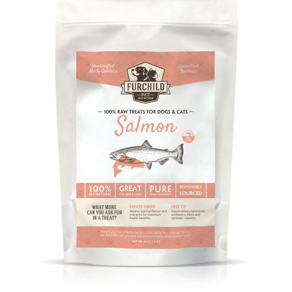 FURCHILD Premium Freeze-dried Wild-caught Salmon Treats - The Happy Dolphin Pets