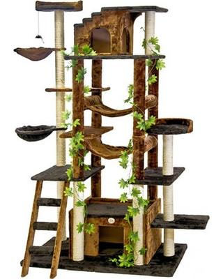 "77"" Cat Tree Go Pet Club - Requires Assembly - The Happy Dolphin Pets"