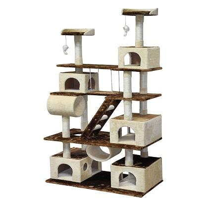 "87.5"" Cat Tree Go Pet Club - Requires Assembly - The Happy Dolphin Pets"