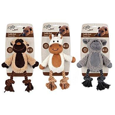 All For Paws Lambswool Cuddle Knot Dog Toy - The Happy Dolphin Pets