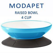 LIGHT BLUE MODAPET 4 cup pedestal base food bowl (947ml) - The Happy Dolphin Pets