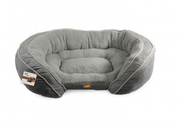 All For Paws Luxury Lounge Dog Bed Grey Large- Size: 94x61x22CM