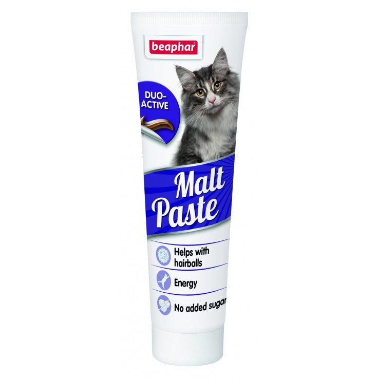 Beaphar Malt Paste Anti-Hairball For Cats 100g - The Happy Dolphin Pets
